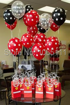 Free Shipping 500pcs Hot Pink Black Latex Balloons With White Dots