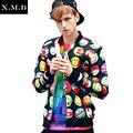 Qualidade Top homem Marca homem Jaqueta jaqueta de impressão 3d 3D Impressão silm Casaco Outwear University College chaquetas Jaqueta Básica
