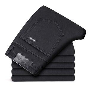 Image 2 - 2019 Zwart Grijs Merken Jeans Broek Mannen Kleding Zwarte Jeans Fashion Casual Klassieke Stijl Elastische Kracht Skinny Broek Mannelijke