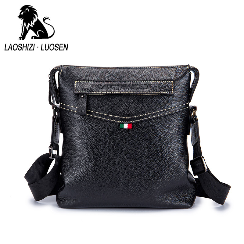 New Arrival Fashion Business Leather Men Messenger Bags Promotional Small Crossbody Shoulder Bag Casual Man Vertical Handbags