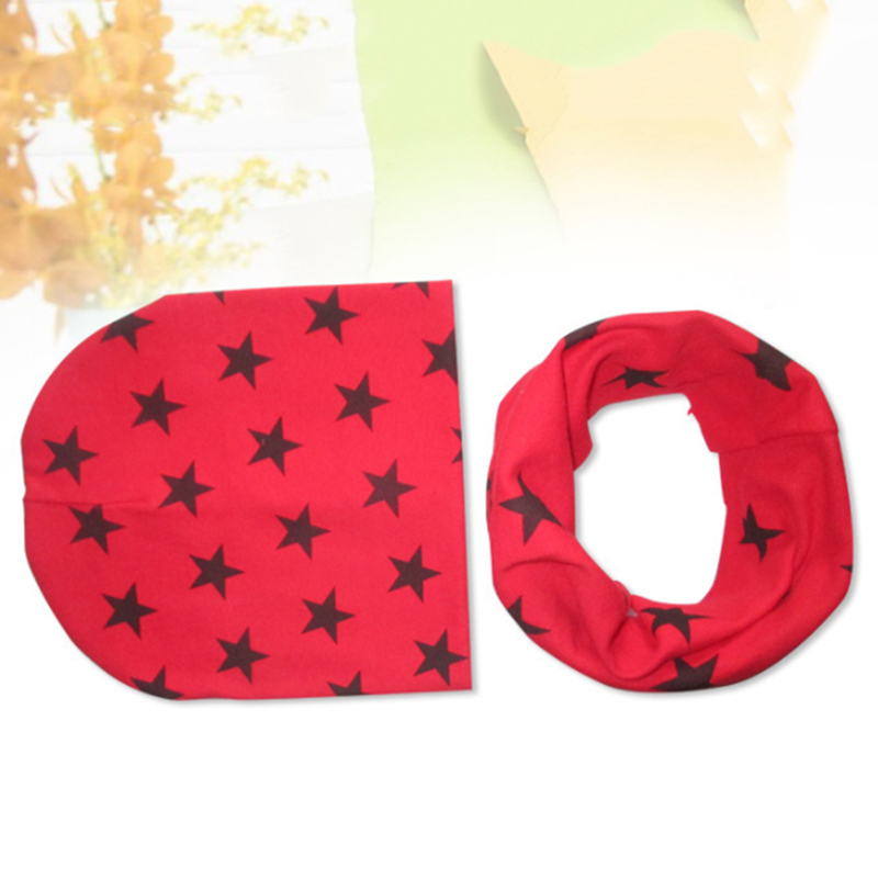 Fashion Hats Cap Autumn Winter Girls Tops Boys Scarf Hats Scarf New Stars Solid Crochet Style Warm Hat Scarf Hot Sale