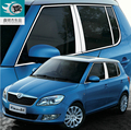 free shipping 304 stainless steel car window chrome trim for skoda fabia type 5j 2008 2009 2010 2011 2012 2013 2014