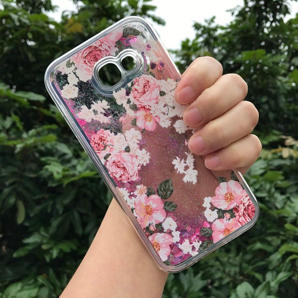 Online Shop Glitter 3m Sticker For Samsung J5 J2 J7 Prime Matte Bling Wrap Skin Oppo A37 3d Girls Water Cases A520 Rose Flower Mandala Heart Liquid Quicksand Soft Tpu