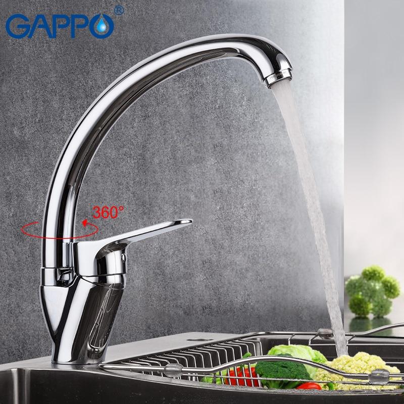 цены на GAPPO kitchen faucet bathroom kitchen sink faucet water tap sink faucet Brass kitchen faucet mixer torneira de cozinha в интернет-магазинах
