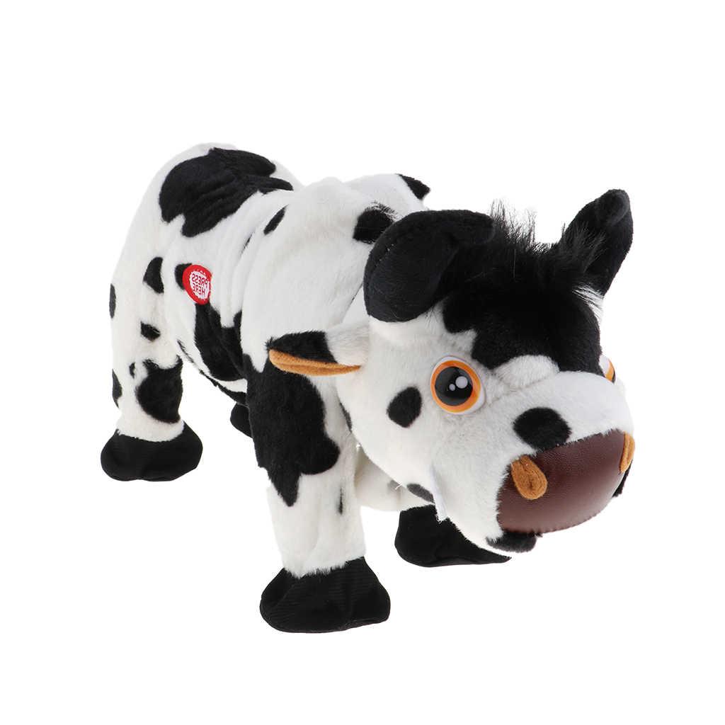 MagiDeal 電動歩行と歌ぬいぐるみ牛ぬいぐるみ子供のおもちゃ