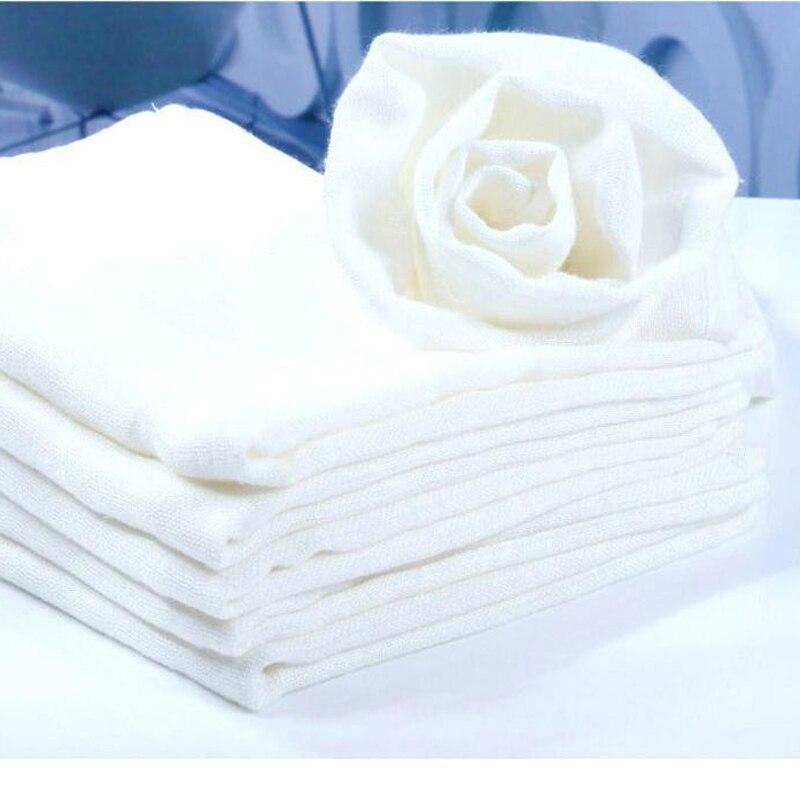 Бесплатная доставка, 4 шт./лот, супер впитывающий тканевый подгузник белого цвета из бамбуковой марли и муслина, дышащий подгузник из бамбук...