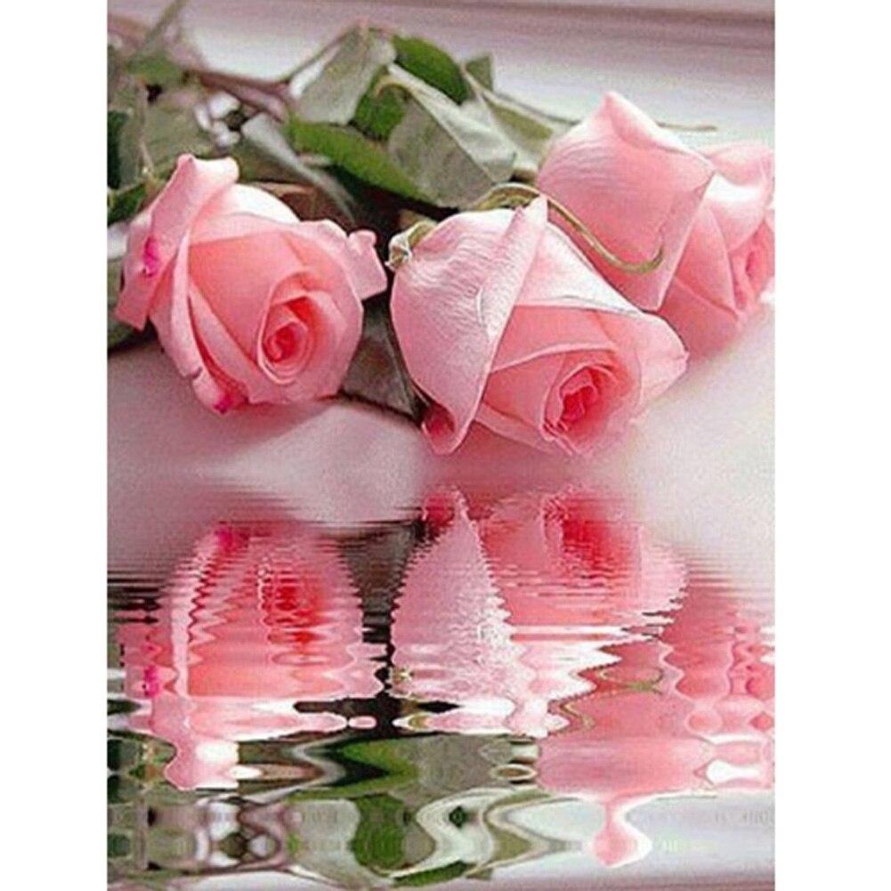 Día de San Valentín Rosa única con un brillo rosa de oro con oro hermoso Cinta De Raso