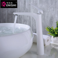 New Style New arrival bathroom faucet Luxury high quality chrome finished cold and hot bathroom white&Black faucet basin faucet