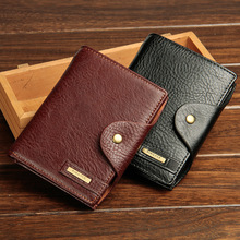 Men's passport PU wallet wallet bulk multifunctional Travel Wallet Purse Size male European and American foreign trade