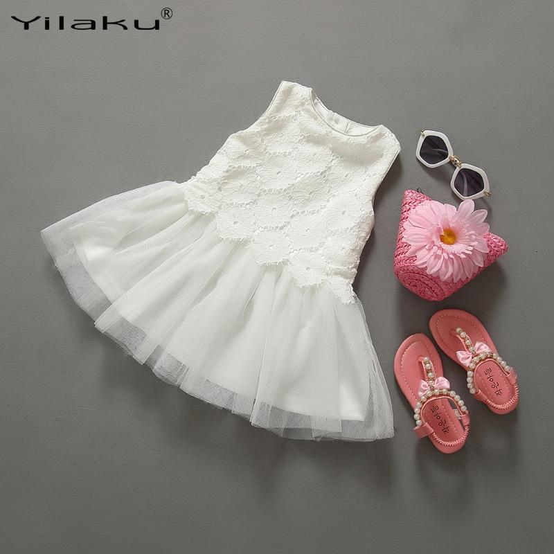 Yilaku Girl Baptism Dress Infant Girls Christening Gowns Toddler Wedding Party Dresses Children Sundress Summer Baby Tutu Dress