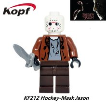 The Horror Theme Movie Freddy Vs.Jason Hockey Mask Guy Clockwork Orange Nightmares Sally Shock Building Blocks Kids Toys KF212(China)