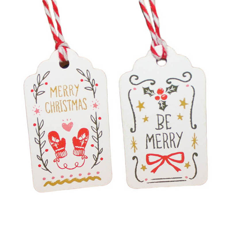 50pcs/lot Merry Christmas DIY Unique Gift Tags JOY TO WORLD tag Small Card Optional String DIY Craft Label Party Decor 50pcs lot sfr9224 to 252