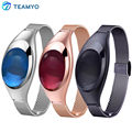 Teamyo banda inteligente android ios z18 de presión arterial monitor de ritmo cardíaco reloj de pulsera de lujo reloj de las mujeres regalo