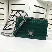2018 Women Shoulder Bags High Quality Genuine Leather Messenger Bags Cow Leather Crocodile Grain Lxuxury Brand