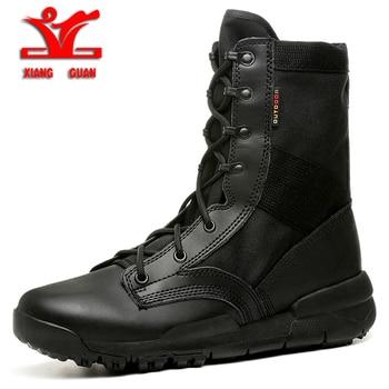 XIANGGUAN 2018 Military boots men Outdoor High top Hiking Shoes women Sports Tactical Boots Wear-Resistant Camping Sneakers men