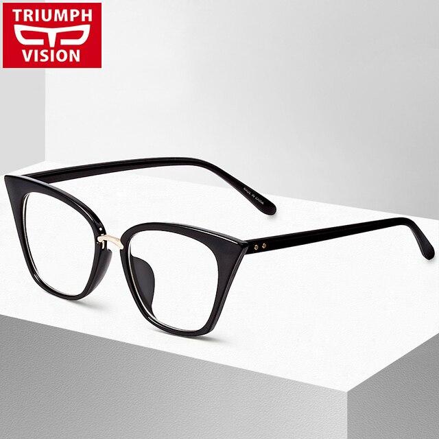 6d731bff9e2 Cat Eye Eyewear Frames Optical Myopia Clear Lens Glasses Frame Female  Hipster Vintage Spectacle Frame Big