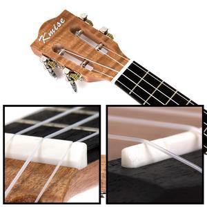 Image 4 - Kmise Concert Ukulele 23 inch Ukelele Tiger Flame Okoume Starter Kit Classical Guitar Head with Gig Bag Tuner Strap String