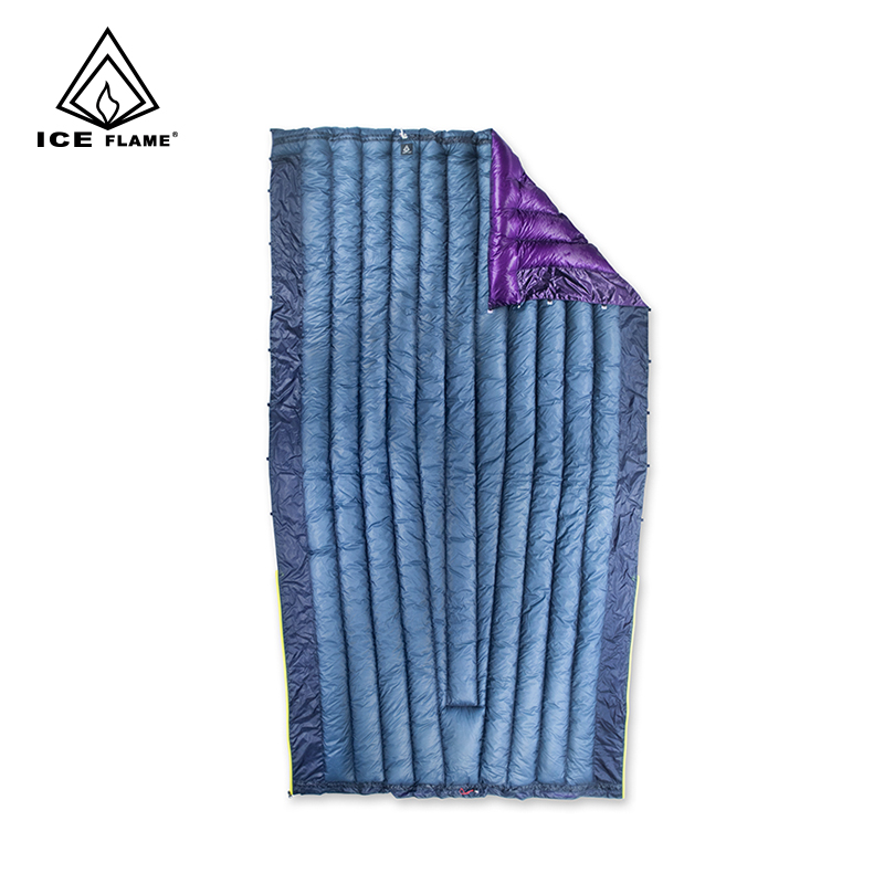 Ice Flame 7D Summer Spring Autumn 90 White Goose Down Sleeping Bag Blanket Sleeping Quilt Underquilt