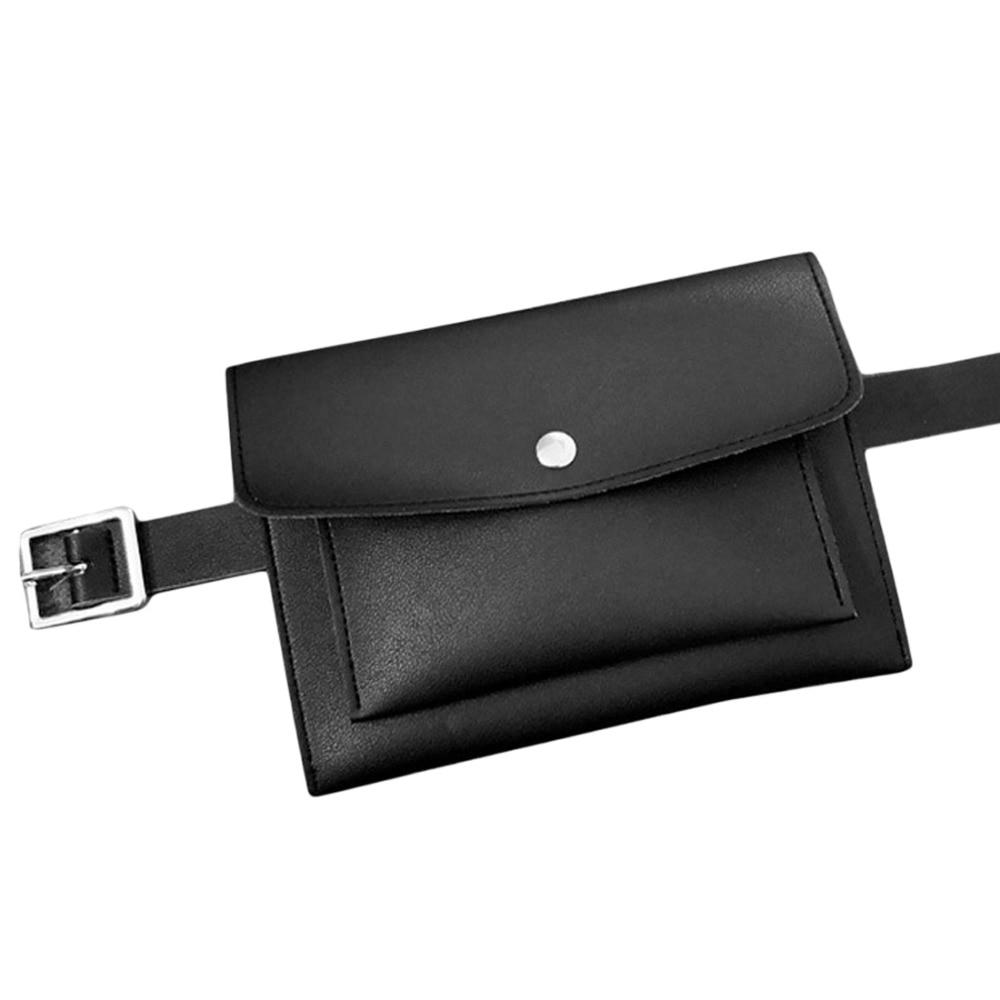 2018 moda mujer bolso de cuero paquete de la cintura femenina cinturón bolsa de teléfono bolsas Hotsale mujeres cintura Packs Fanny Pack Bolosas