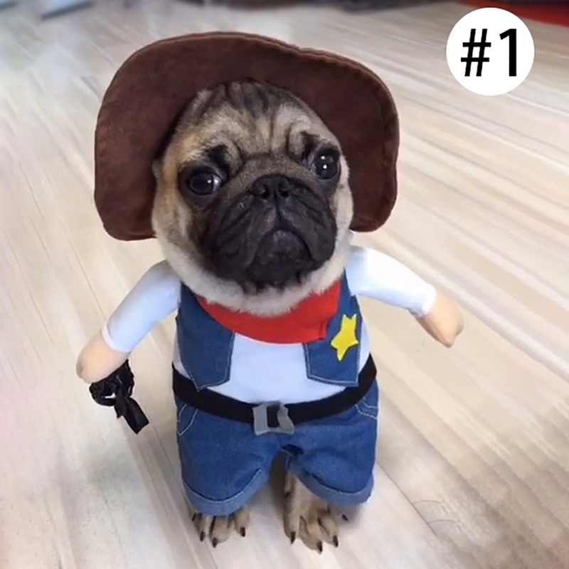 Hoomall 1 pc Pet Cat Dog Fit Traje Do Partido do Dia Das Bruxas Engraçado Bonito Gatos Cão Cosplay Roupas Ternos Traje Jogar Pet acessórios