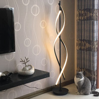 Minimalist floor lamp For Living room Bedroom spiral Lamp Bedroom Office Black White lampe de salon Led Standing Lamps Fixtures