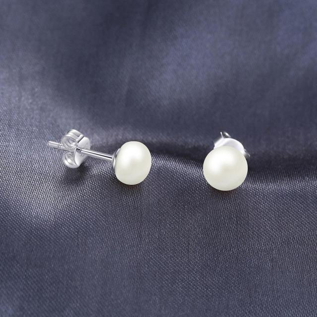 Cultured Pearl Ball Stud Earrings
