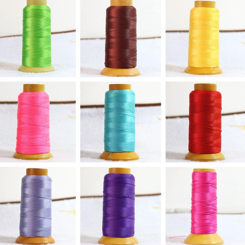 Alta calidad libre 18 perlas de color seda de nylon línea de hilo de ...