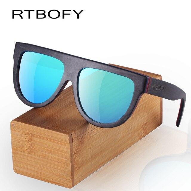 RTBOFY Wood Sunglasses for Men and Women Skateboard Wood Frame ...