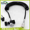 Paintball PCP Coil Remote Hose Line w/Quick Disconnect and 1500/3000psi Mini Gauge 4m(extend length)