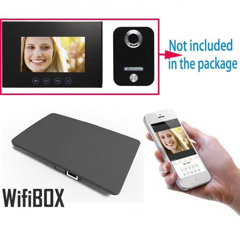 Sans fil WiFi IP BOÎTE Pour Vidéo Interphone Sonnette Bâtiment Interphone système de Contrôle 3G 4G Android iPhone ipad APP sur Smart téléphone