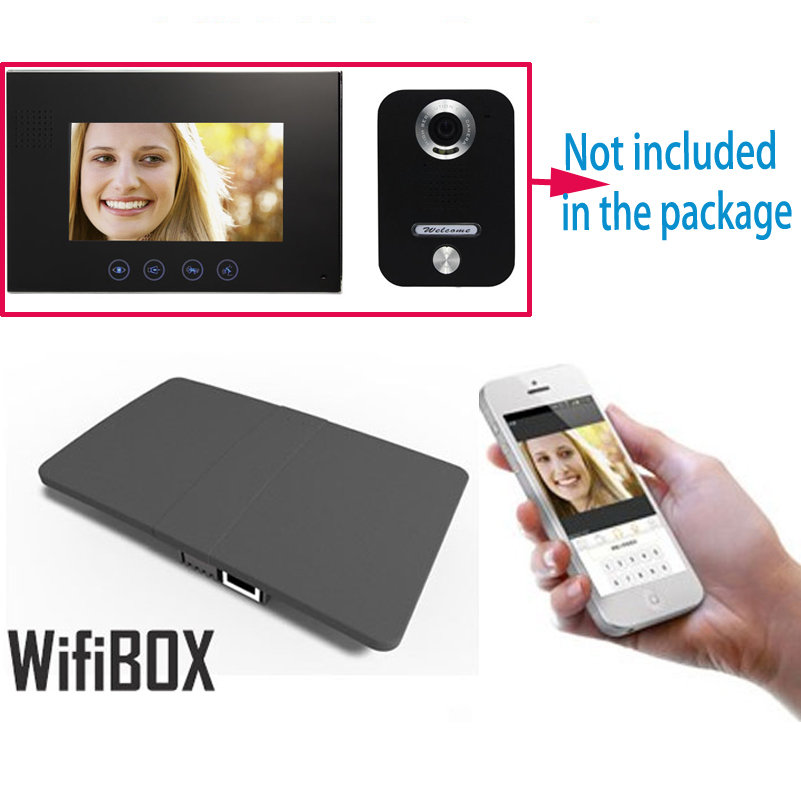 Wireless WiFi IP BOX For Video Doorphone Doorbell Building Intercom System Control 3G 4G Android iPhone ipad APP on Smart Phone