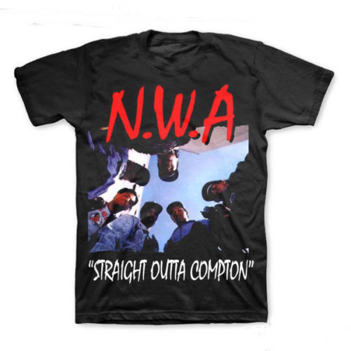 NWA (N.W.A.) Straight Outta Compton T shirt men Hip Hop Rap gift Casual tee USA size S-3XL