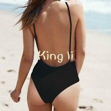 New Arrival white black bodysuit Sexy Backless one piece swimsuit Swimwear Women Bathing suit Beachwear Monokini bather