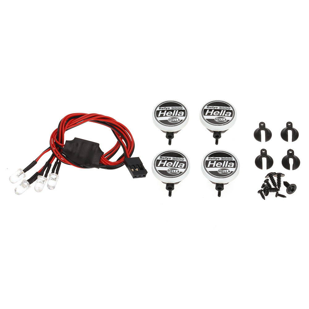 austar ax007a 2pcs rc car multi function round led light with