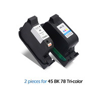 2pcs Compatible Ink Cartridges For HP 45 78 deskjet 1220c 3820 3822 6122 6127 920c 932c 940c 950c printers For HP45 For HP78