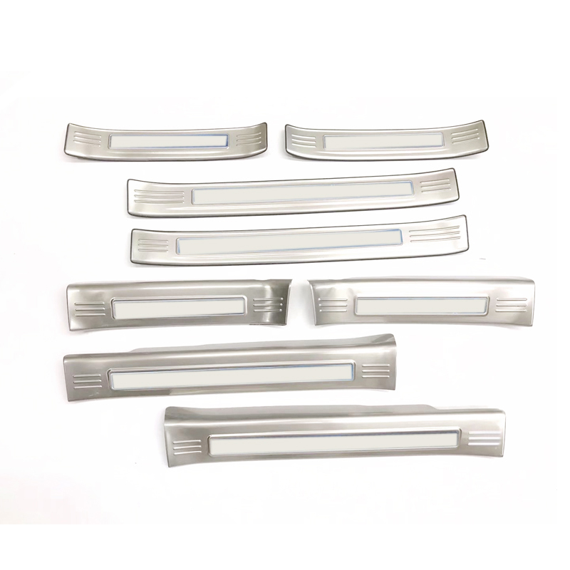 Stainless Steel <font><b>Accessories</b></font> Exterior Inner & Outer Rear Scuff Plate Door Sill Cover 8pcs Fit for Mazda CX-5 CX5 2017 2018