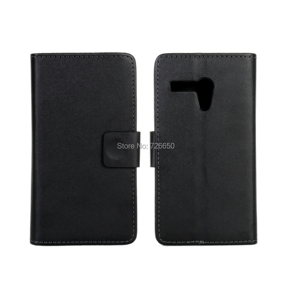 PU Wallet Leather Case For Moto G with Stand TV Function & Card Holders + Free Screen Protector