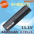 6 células 11.1 v 4400 mah da bateria do portátil para hp 586021-001 hstnn-db0q hstnn-xb0q wd547aa para touchsmart tm2 tm2-1000 tm2-2000
