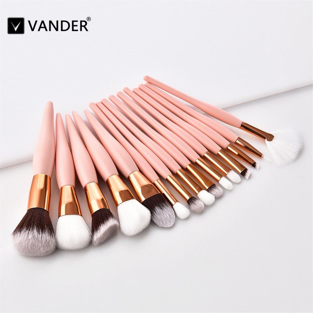 vander 8 12 15 pcs pinceis de maquiagem profissional definida pincel de base de maquiagem cosmeticos