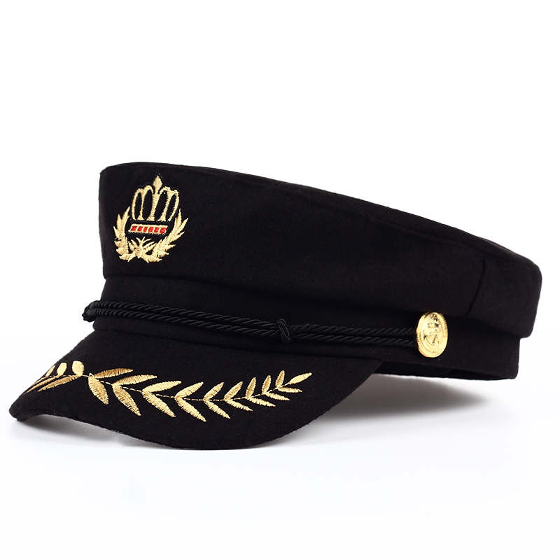 3b4f8c02fe009 TUNICA 2017 Vintage warm hat Men Women Autumn Winter Flat Military berets  Captain Adjustable Sailor Caps
