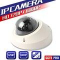 2.0MP HD 720 P 1.0MP 1080 P Vandal-Proof Mini Câmera Dome IP 3.6mm Lente IR 10 M Noite-Visão CCTV Câmera de Rede P2P Nuvem Onvif