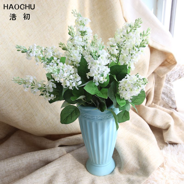HAOCHU 1PC White Delphinium Silk Flower Artificial Violet Europe Wedding Hyacinth Bouquet Home Party Decor Green Plant 6 Colors -in Artificial & Dried ...