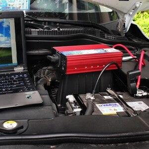 Image 2 - 12 V a 220 V 2500 W inversor del coche 12 v 220 v convertidor de potencia fuente de alimentación portátil del vehículo adaptador de cargador USB