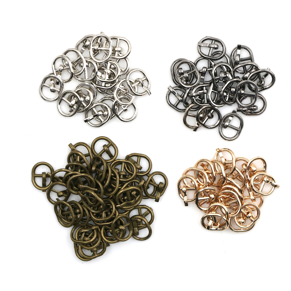 10PCS 4.5MM Diy Mini Japanese Word Buckles For Bjd Blyth Doll Shoes Clothes CA