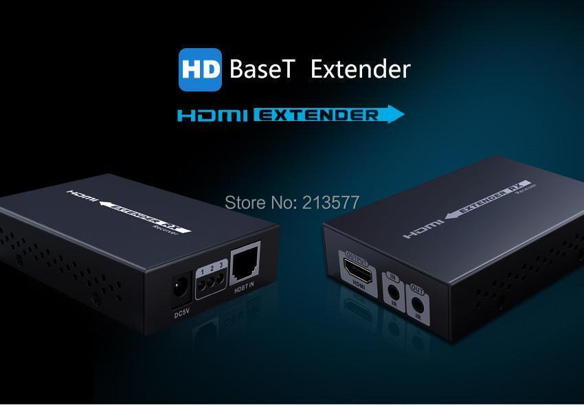 LKV375N Real 4K 2K 60Hz 3D 1080P HDBaseT HDMI IR Remote LAN Extender Repeater over RJ45