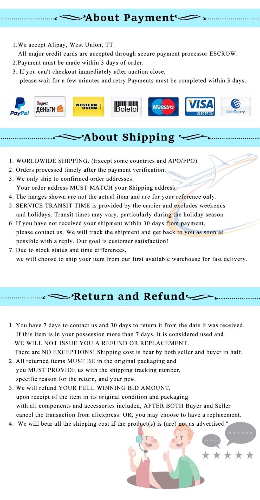 payment shippment refund
