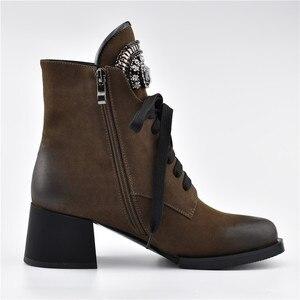 Image 5 - MORAZORA gran oferta botines de mujer con cremallera + cordones botas de invierno otoño moda de cristal zapatos de tacón alto Mujer