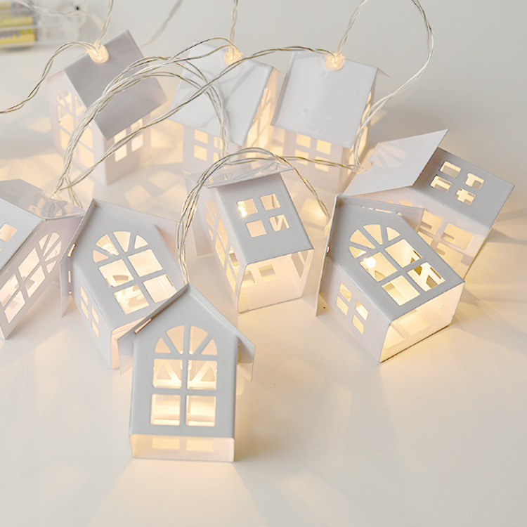 Image 5 - 1.5M 10pcs LED Christmas Tree House Style Fairy Light Led String wedding natal Garland New Year christmas decorations for home-in LED String from Lights & Lighting on