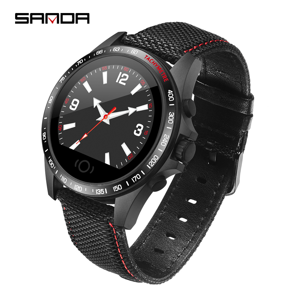 Mens Sports Smart Bracelet Band With Heart Rate Monitor ECG Blood Pressure Monitoring Full Screen TouchWatches Waterproof Watch