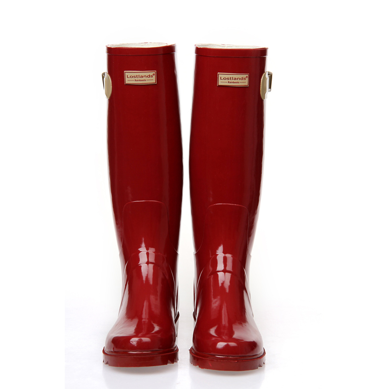 Women s high quality red wine wellington boots rubber rain boots waterproof  wear antiskid boots for women girls-in Knee-High Boots from Shoes on ... 1d02564aa2